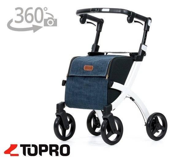 TOPRO Rollz Flex Shopping Rollator mit 360 Grad-Ansicht