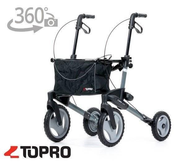 TOPRO Outdoor-Rollator Olympos mit 360 Grad Ansicht