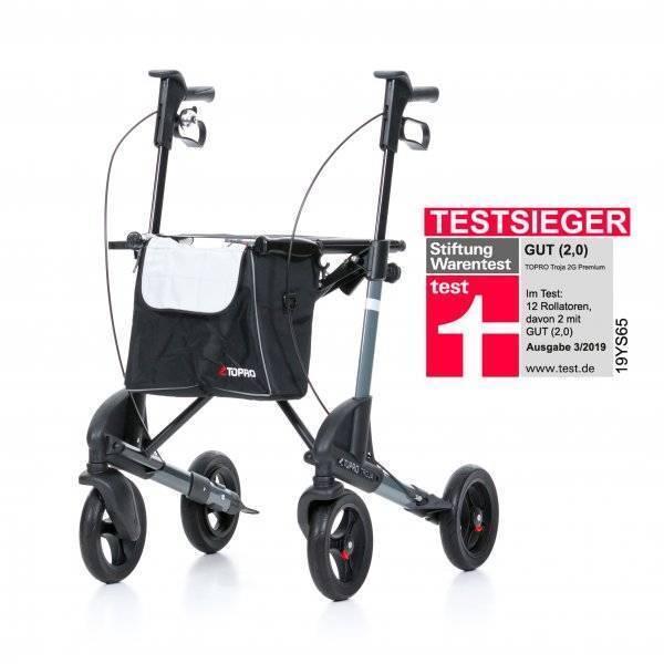 TOPRO Leichtgewichtrollator Troja 2G Premium grau im rehashop - Testsieger 2019